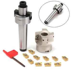 10-Carbide-Insert-APMT1604-amp-MT3-Shank-400R-50mm-Face-End-Mill-Cutter-Fit-CNC