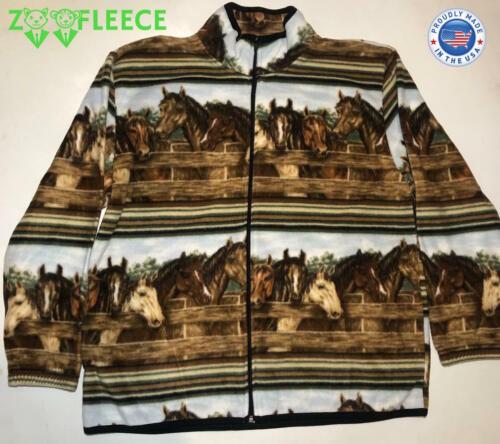ZooFleece Winter Riding Horses Animal Jacket Coat Sweater Women/'s Gift S-3XL