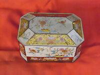 Alte Dose , Blechdose , achteckig , 15 cm x 10 cm , Höhe 8 cm , mit Deckel