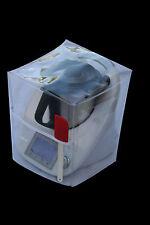 HOUSSE DE PROTECTION THERMOMIX TM5/TM31 Transparente SANS Varoma biais blanc