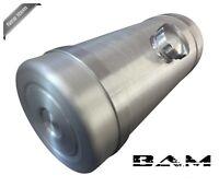 Spun Aluminum Gas Tank - 10x24 Center Fill - With Aluminum Brackets - 1/4 Npt