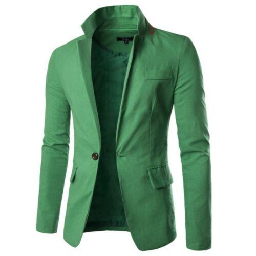 Men/'s Lapel One Button Jacket Leisure Slim Fit Coat Blazer Formal Party Outwear