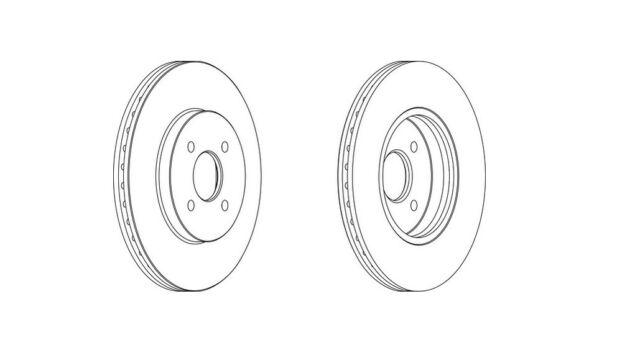 2x Brand New Ferodo Front Brake Disc - DDF1195C - 12 Month Warranty!