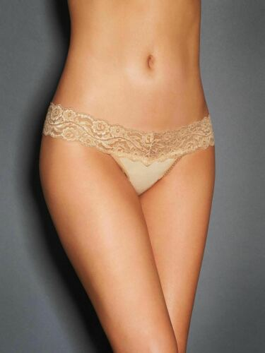 Women/'s Cotton and Lace Thong Frederick/'s of Hollywood