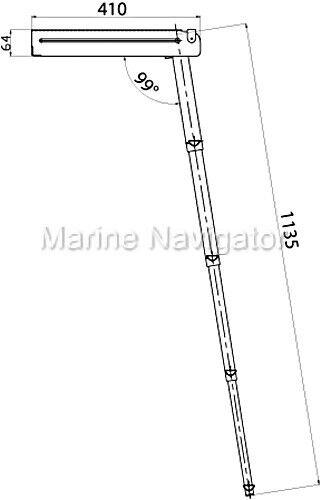 LINDEMANN 4 Badeleiter Badeplattform 4 LINDEMANN Stufen 3864fa
