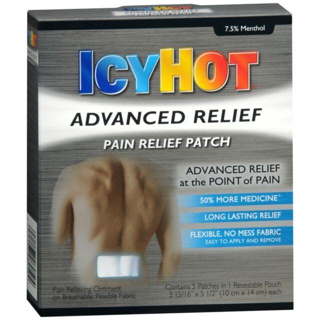 Icy Hot Avancé Soulagement Soulagement Douleurs Patches - 5 Chaque (Lot de 3)