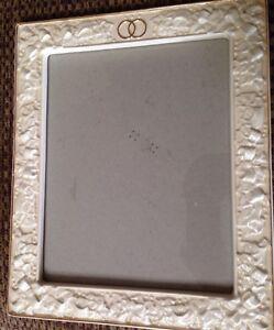 10x12-Porcelain-Wedding-Frame-Veritas-Wilton-ivory-embossed-ribbon-double-rings