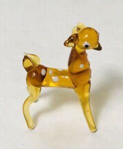 Glass-Bambi-034-Deer-Sculpture-Figurine-Miniature-Murano-Art