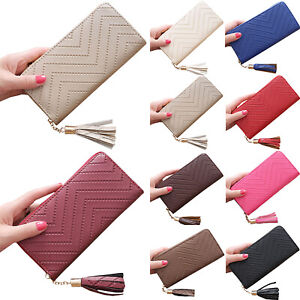 Womens-Tassel-Purses-Wallets-Clutch-Long-Card-Holder-Large-Capacity-Handbags-Bag