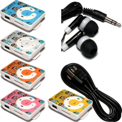 Bundle Lot of 10 Generic MP3 players w// cables /& earbuds 2GB 4GB 8GB up to 32GB