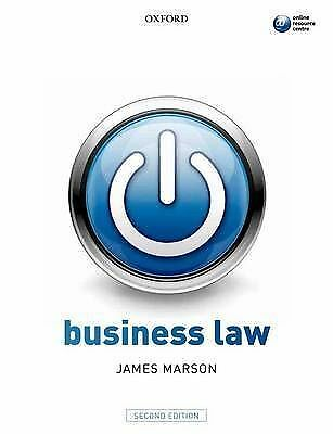 1 of 1 - Business Law by James Marson (Paperback, 2011)