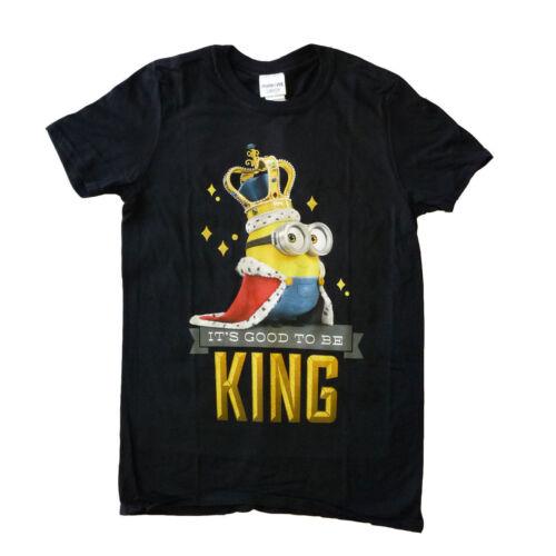 Despicable Me bons serviteurs à être roi officiel Funny T-Shirt unisexe 15 b