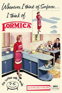 Vintage Formica da Cucina Annuncio Pubblicitario Poster Anni 50 ...