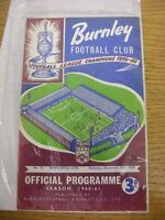 31/12/1960 Burnley v Newcastle United  (Creased, Folded, Worn, Marked). Thanks f