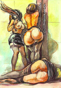 Original Erotic Drawing by Igor Ch Print Watercolor A4