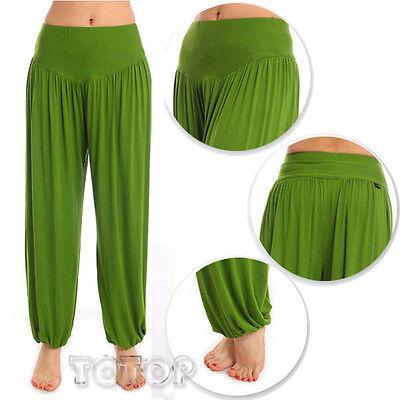 Women Harem Genie Aladdin Causal Gypsy Dance Yoga Pants Belly Baggy Jumpsuit