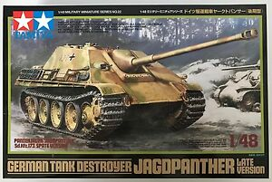 TAMIYA-32522-Aleman-CAZACARROS-Jagdpanther-Late-Version-1-48-Kit-de-modelismo