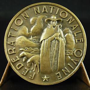 Medaglia-Concours-Pecore-c1930-un-Pastore-e-Ses-Pecore-Medal