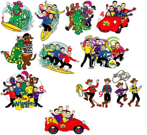 10 THE WIGGLES  WALL STICKER WALL DECALS 3 SIZES VINYL PHOTOPAPER