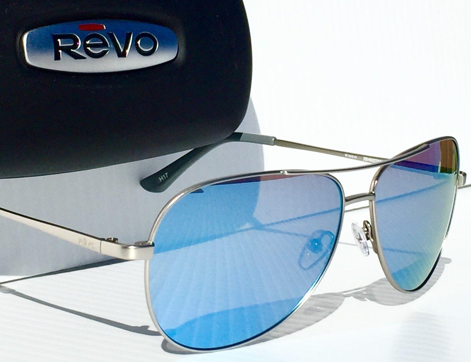1897d35351 REVO Johnston Gunmetal Aviator W Polarized Blue Lens Sunglass 5015 03 BL  for sale online