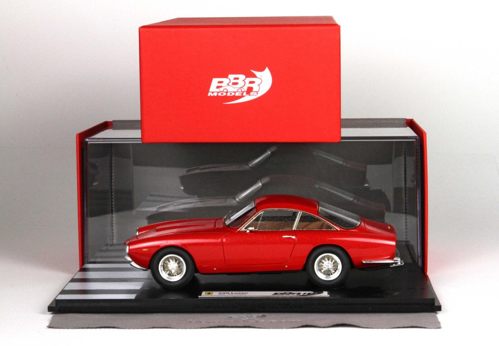 Ferrari 250 Lusso 1963 Rojo Rain version 1:18 lim.ed.20pcs BBR1843RAIN