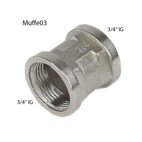"""Guß Ganze Muffe Gewinde Innengewinde 3//4/""""  EST IG//IG 3//4 auf 3//4/"""" Muffe03"""