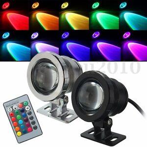 10W-RGB-Boden-Einbaustrahler-LED-Gartenstrahler-Aussenstrahler-Lampe-85-265V-12V