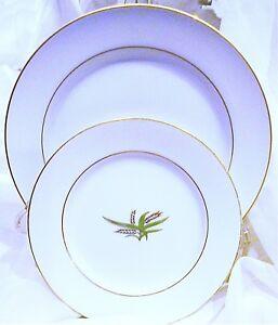 Salad Plates, Bread Butter Plates, Fukagama Arita Hand Painted, 8pc Plate Set