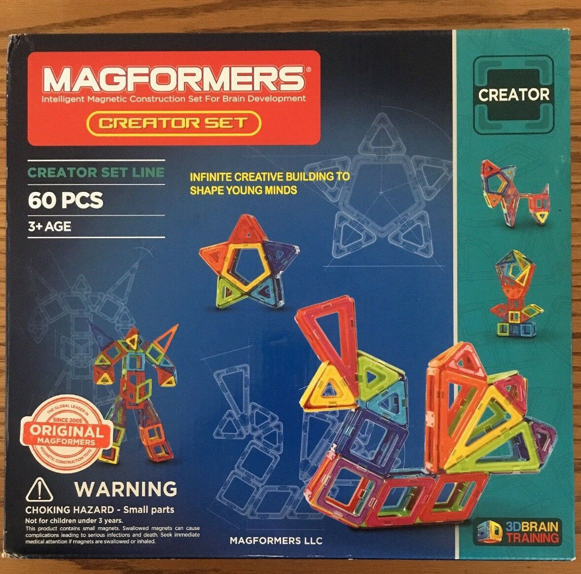 Magformers Magnetic 60-Piece Creator Building Set 3D Brain Training Ages 3+ NEW