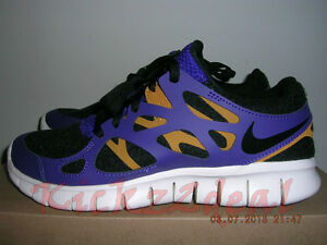 128c54561 NEW WMNS NIKE FREE RUN+ 2 EXT Running Shoes SZ 6 7.5 Black Purple ...