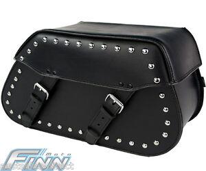 102s Studded Tek Leather Saddlebags Motorcycle Cruiser Universal Fat Boy Vstar