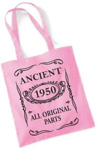 67. Geburtstagsgeschenk Tragetasche MAM Einkauf Baumwolltasche Antike 1950 alle
