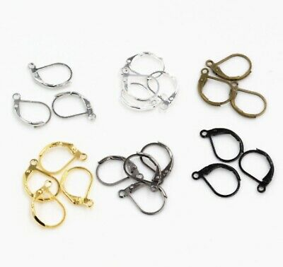 10pcs Charm Earring Hooks Wire Setting Base Jewelry Making Craft Accessories