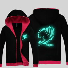 Coat Luminous Hooded sweater Anime Fairy Tail Casual Clothing Sweatshirt