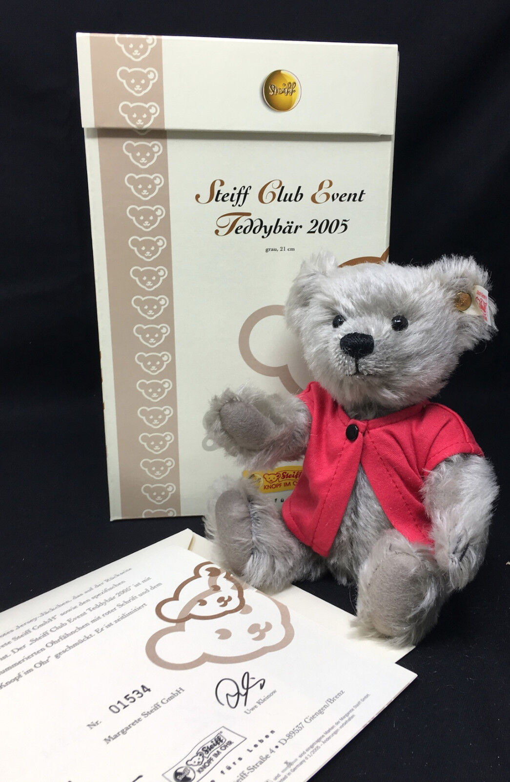 Steiff CLUB 2005 Event Teddy Bear 8.26 in (21cm) 420498 Homage 125th Anniversary
