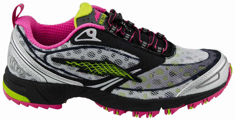 NIB AVIA BOLT XZR Trail schwarz pink green neon Damens running schuhe sz 6 100