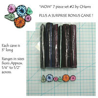 Wow Polymer Clay Cane Set Of 7 Canes Each 3 Long Design By Charm 2