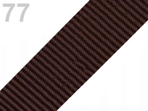 50 mm-plusieurs couleurs 3 m taschengurt-Sangle de Polypropylène 0,90 €//m