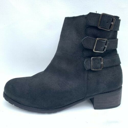 BooRoo Jules Wool Lined Suede Ankle Boots women 11