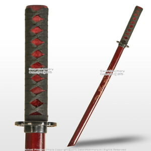 Red-31-034-Wakizashi-Size-Bokken-Sword-with-Dragon-Engraved-Blade
