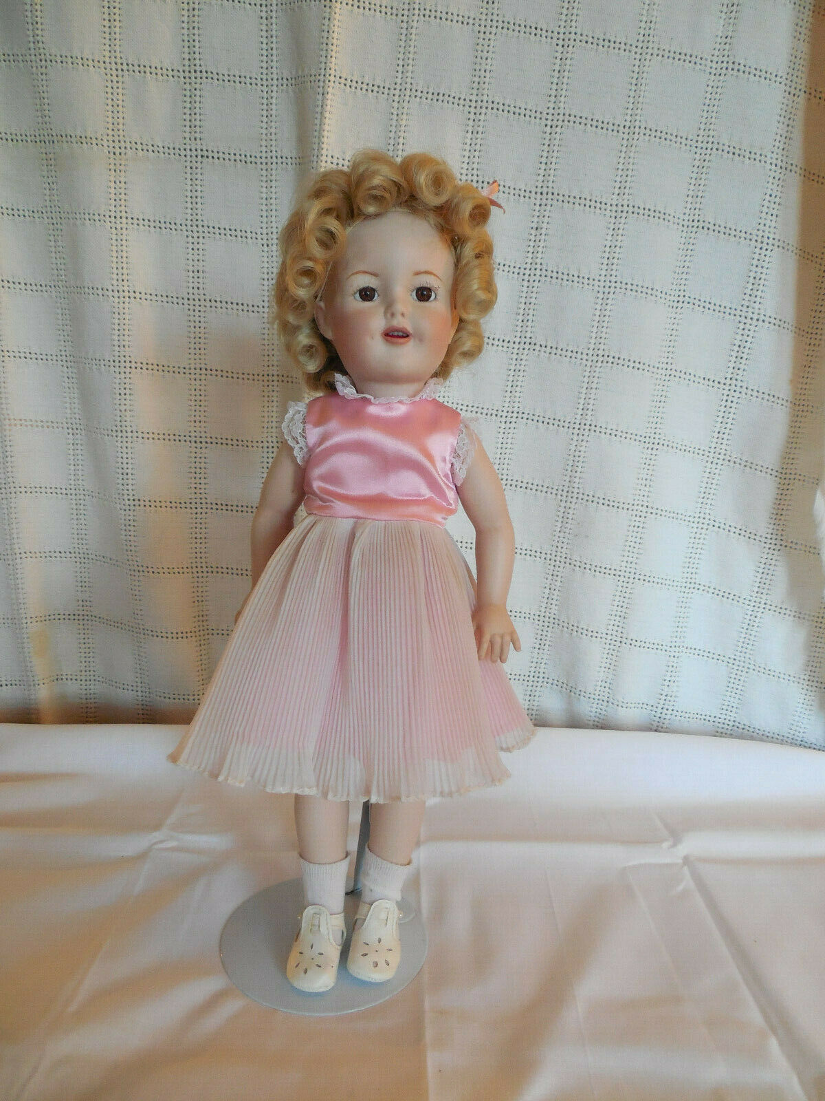 Porcelana muñeca de Shirley Temple Completo Hecho a Mano 16  firmado J Boyer 1995