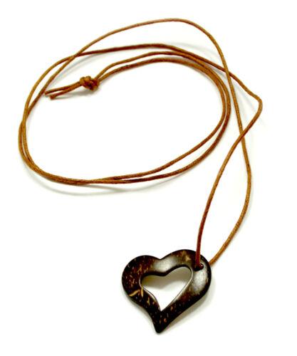 Corazón-Coco-Design cadena con cordel banda 1 metros en diferentes colores//Tracht