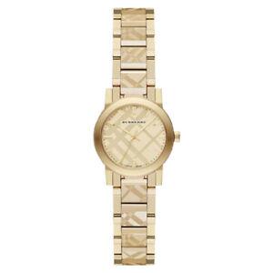 100-New-Burberry-BU9234-The-City-Swiss-Gold-Ion-plated-Bracelet-Women-039-s-Watch