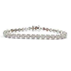 Diamond Flower Cer Tennis Bracelet