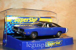 Slot-SCX-Scalextric-Superslot-H3535-Dodge-Charger-Metallic-Blue-New