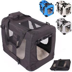 Faltbare-Hundebox-Hundetransportbox-Katzenbox-Haustierkaefig-Autobox-Reisebox-Box