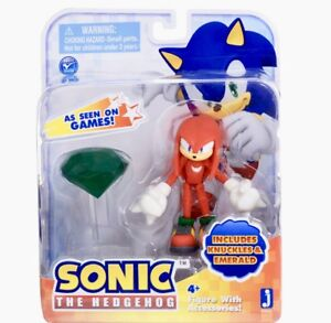 Sonic-Knuckles-with-Master-Emerald-Figure-TOY-Jazwares-Brand-New-Rare