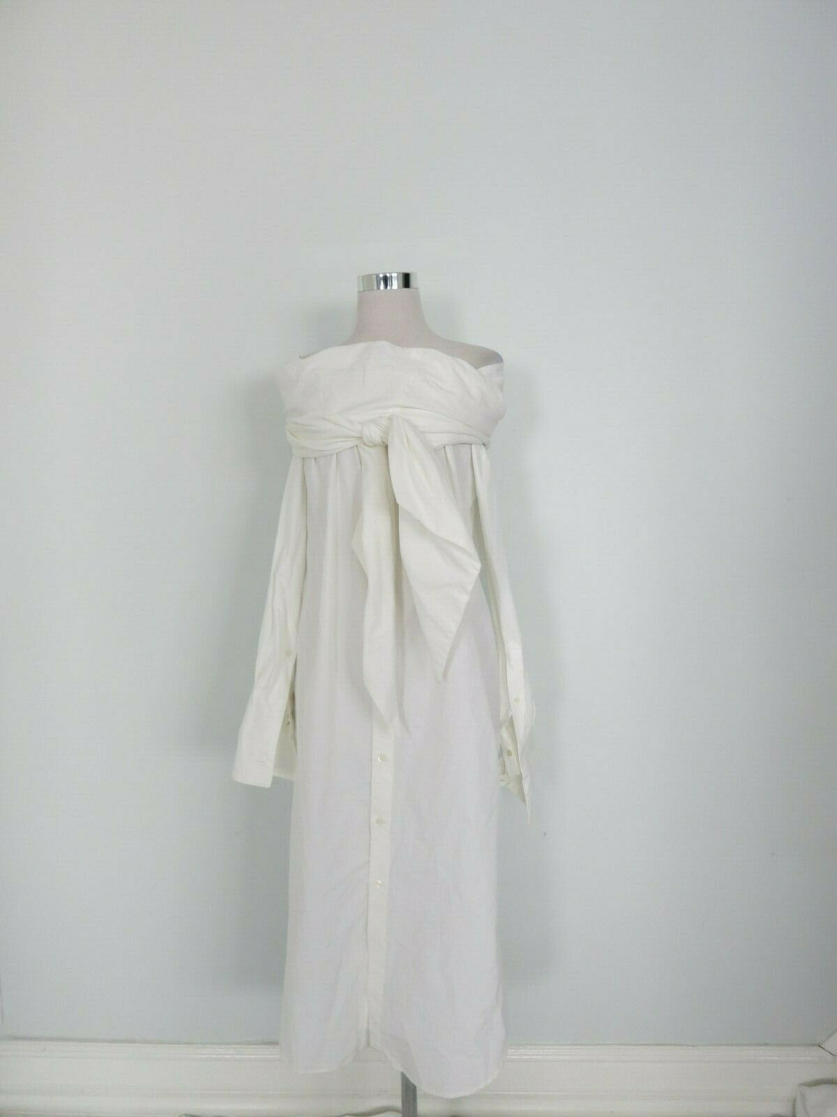 DRIES VAN NOTEN white off-shoulder dress size 34 US 0 0 0 fa3e35