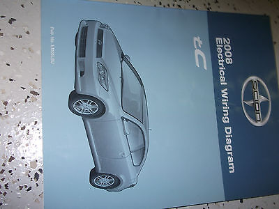 2008 Toyota Scion Tc Tc Electrical Wiring Diagram Service Shop Repair Manual Ebay