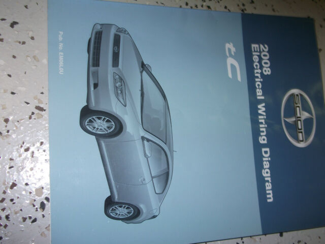 2008 Toyota Scion Tc Tc Electrical Wiring Diagram Service Shop Repair Manual